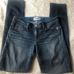 Skinny dark wash Paige jeans - flaw